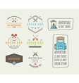 Icons for adventure in the style of flat vector image vector image