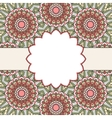 Floral oriental pattern vector image