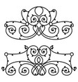 decorative iron metal fence elegance retro vector image