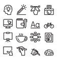 designer line icon set vector image