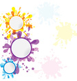 set of banner template ink cute element for design vector image
