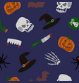 spooky halloween seamless pattern vector image