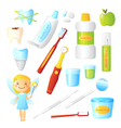 Teeth Healthy Dentist Set vector image