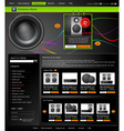 web site is an online store vector image