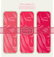 Floral pink tags for template vector image vector image