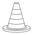 Traffic safety cone icon outline style vector image