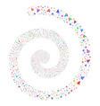 reader fireworks spiral vector image