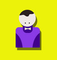 flat icon design collection casino delar vector image vector image