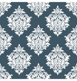 White and blue seamless floral background pattern vector image vector image