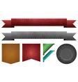 leather ribbons vector image vector image