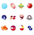 12 colorful symbols set 22 vector image vector image