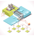 Energy 15 Infographic Isometric vector image