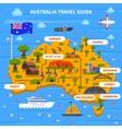Australia Travel Guide vector image