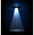 UFO alien lights vector image
