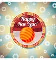 Badge with cute new year bauble and -Happy New vector image