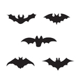 black silhouettes of bats vector image