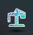 building crane icon button logo symbol concept vector image