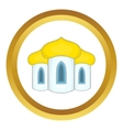 Domes of the church icon vector image