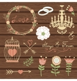 Elegant collection of graphic elements vector image