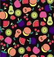 Fruit pattern on Black background vector image