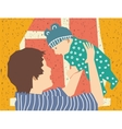 Happy mother and baby son vector image