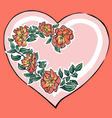 Hearth with red flowers vector image