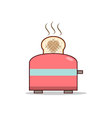 Isolated cartoon making love with toaster vector image