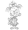 Little zombie-girl vector image