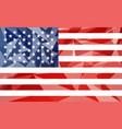 low poly usa flag vector image