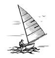 marine sport sketch vector image