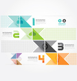 Modern Design Minimal style infographic paper vector image