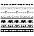set of black borders vector image