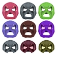 Set of Colorful Superhero Mask vector image