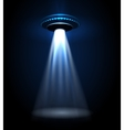 UFO alien lights vector image