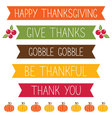 Thanksgiving banners set vector