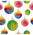 watercolor balls seamless pattern With hand vector image