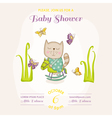 Baby Cat on a Horse - Baby Shower or Arrival Card vector image vector image