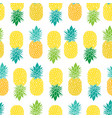 fresh blue yellow green pineapples repeat vector image