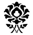 14 Ornamental flower silhouette pattern flower vector image