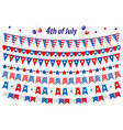 American independence day celebration in usa set vector image