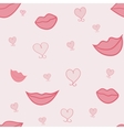 Lips and hearts vector image vector image