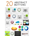 Set of abstract metallic buttons vector image