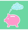 piggy bank dreaming about money vector image