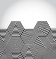 Volumetric 3D pyramid hexagon Optical background vector image