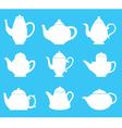 tea pot silhouette vector image