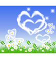butterflies and hearts vector image vector image
