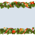 Christmas Border with Gifts vector image