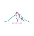 mountain range theme vector image