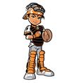 Baseball catcher vector image