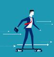 Businessman skateboard vector image